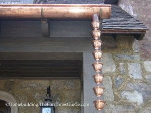 Install A Copper Rain Chain For Simple Elegance: English Cottage-Style Home: Pt. 10 | The Fun Times Guide to Home Building/Remodeling