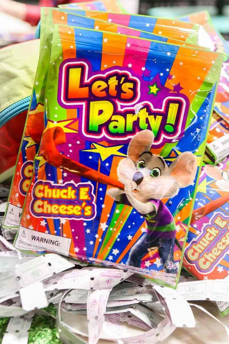 Chuck e cheese party favors that come with some of the