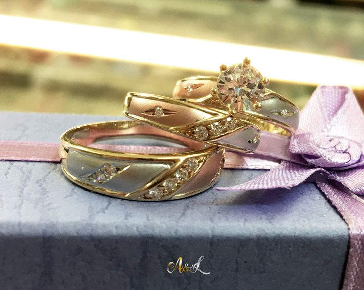 14K Gold Wedding & Engagement Rings. Anillos de boda y engaste de oro de 14K. https://aandlgoldandsilver.com/…/14k-three-colors-gold-wed…/ We have a best price for you. Feel free to contact us~  301-366-1655 #gold #weddingrings #engagement_rings #threecolorsgold #14k #aandlgoldandsilver