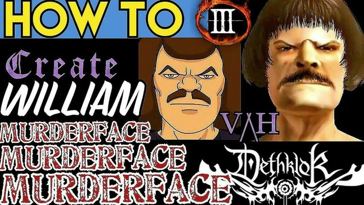 How to Create: Willam Murderface (Metalocalypse) [Sliders at the end]