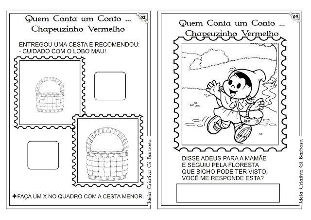 Pin De Mirelly Ribeiro Em Atividades Atividades Chapeuzinho