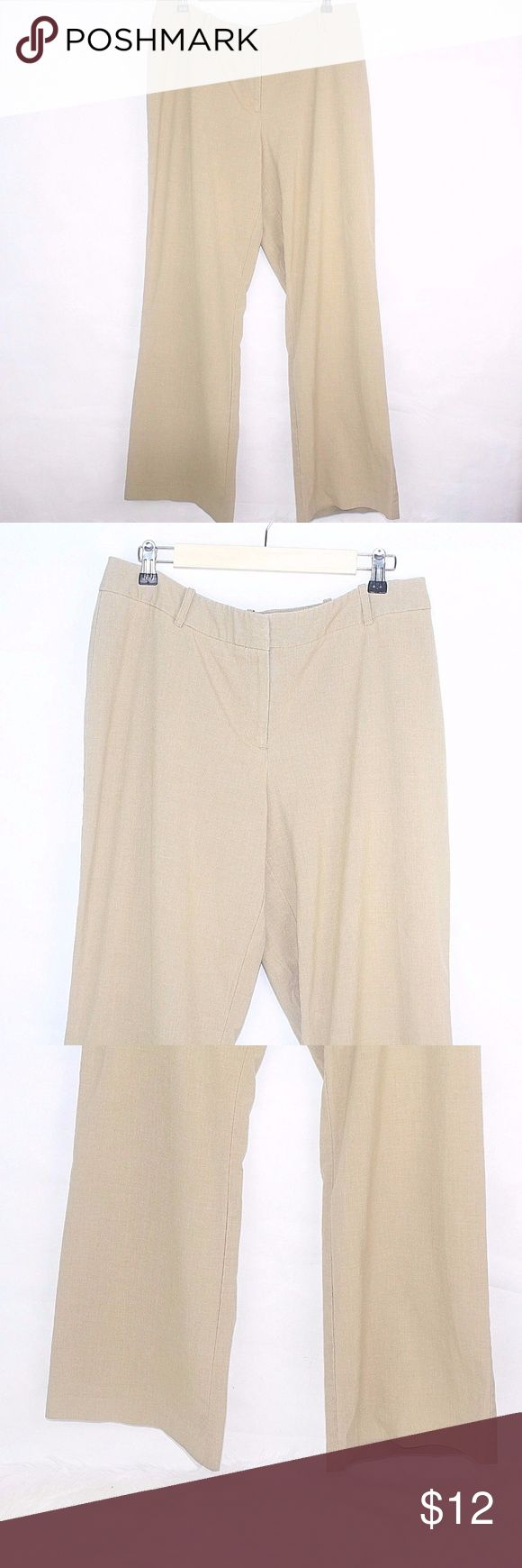 WORTHINGTON Plus Size CURVY FIT Loose Straight Pa WORTHINGTON Plus Size CURVY FIT Loose Straight Pants Sz 14 A2 Work Career 17 1/2 Inches Rise 11 Inches Inseam 32 Inches 63% Polyester 33% Rayon 4% Spandex Some wear fading at closure Worthington Pants Straight Leg