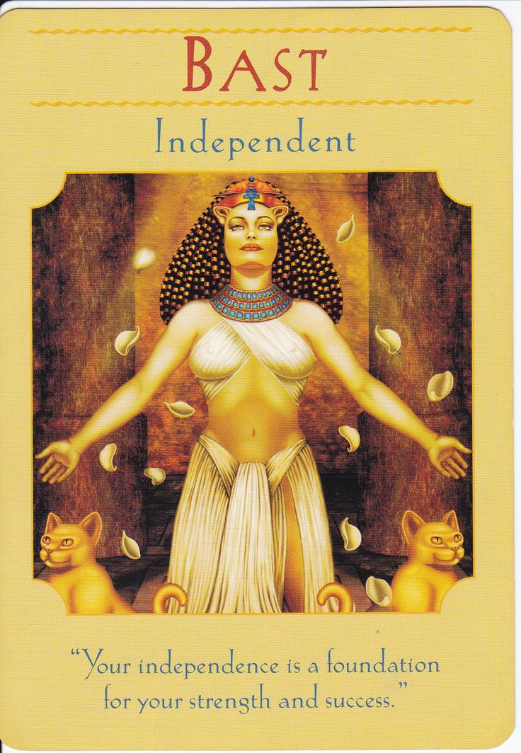 Bast in Goddess Guidance Oracle Cards by Doreen Virtue