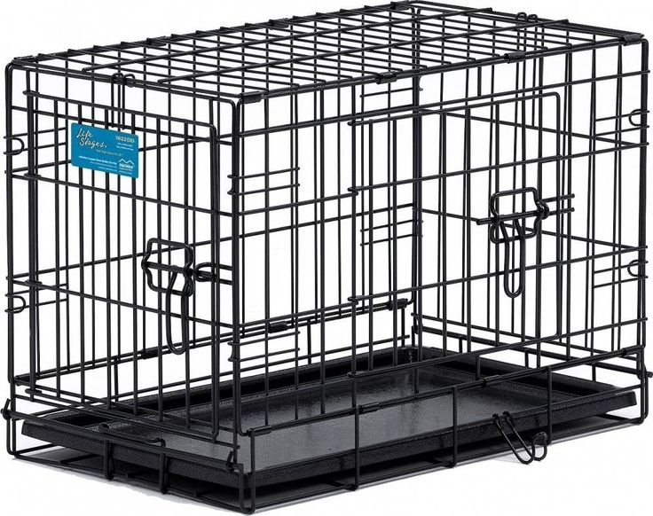 These dog crates are excellent quality and combines the flexibility of a folding dog crate, with second door on the side of the crate. Midwest Life Stages Double Door Dog Crates have two doors, one mounted on the end of the dog crate and the other on the side. The extra door means that this crate is a high quality, versatile solution for most pet owners.<br /> <br /> Sizes:<br /> <br /> 22 x 13 x 16 inches, 2 to 10 lbs<br /> 24 x 18 x 21 ...
