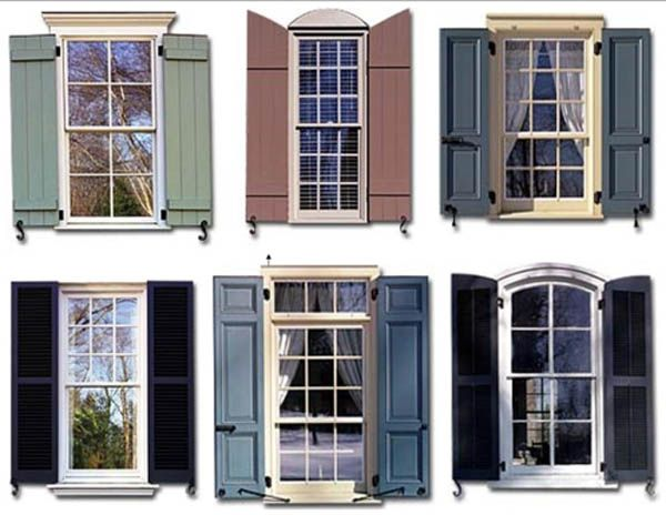 Types of exterior shutters exteriors pinterest - Pictures of exterior shutters on homes ...