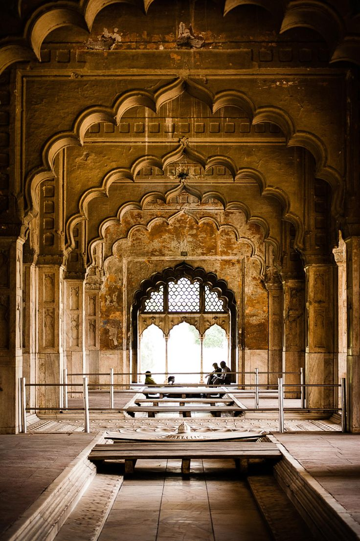 Khas Mahal (built 1631-1640) located inside the Red Fort,  Delhi ~ India