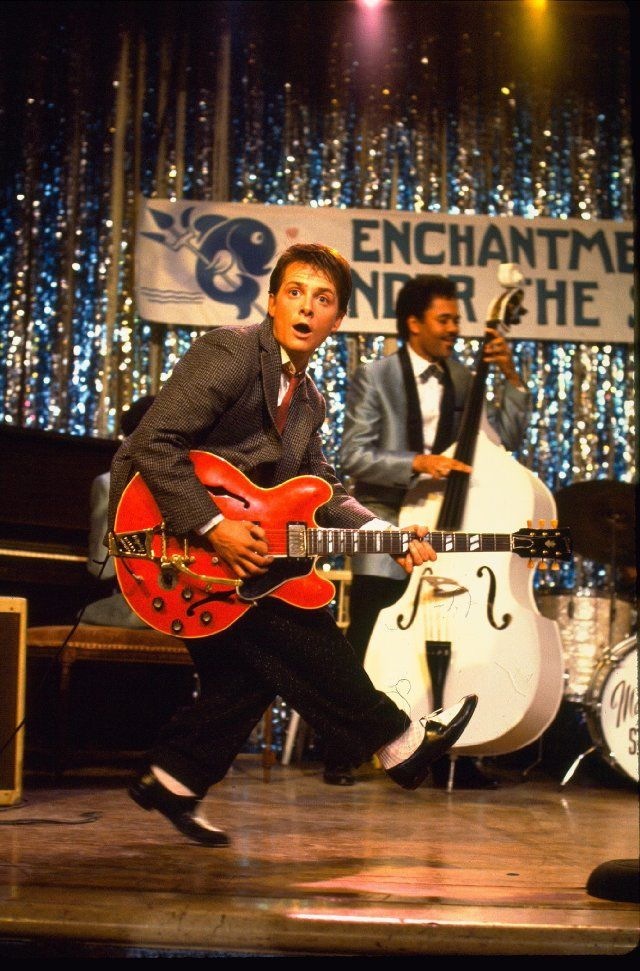 The first time when I was like 5 I thought it would be cool to play guitar was this part of back to the future.