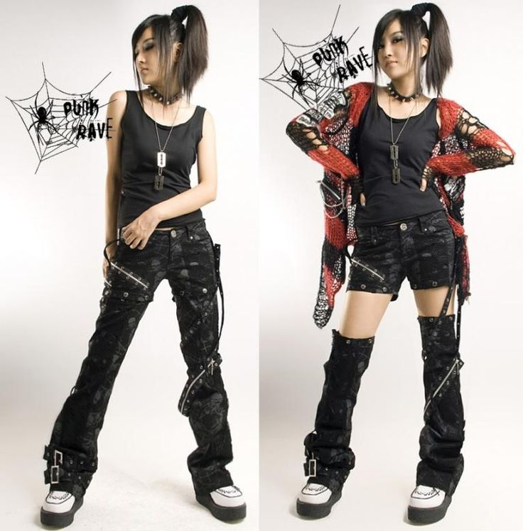 Fashion idea for the anime emo punk tech movement of 2054