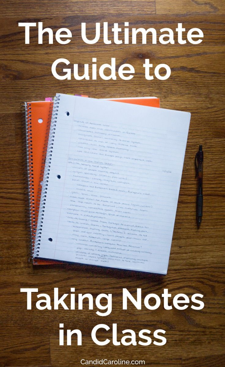 The Ultimate Guide to Taking Notes in Class. Great advice for high school and college students. #backtoschool #study #college