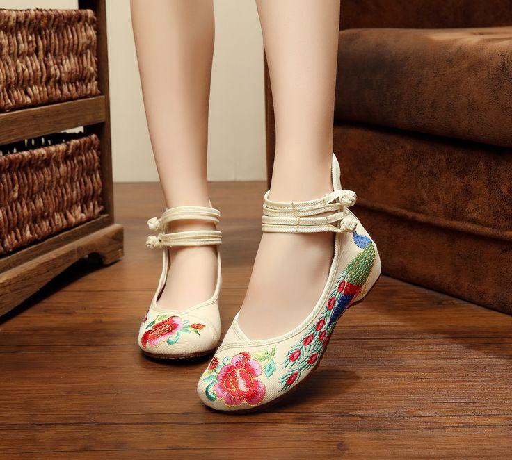hibote Lona para mujer Mary Jane se?oras de peso ligero de la correa de los zapatos Rojo 225 IJxSLYbQ