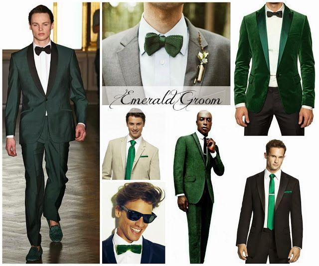 Groomspiration: Emerald
