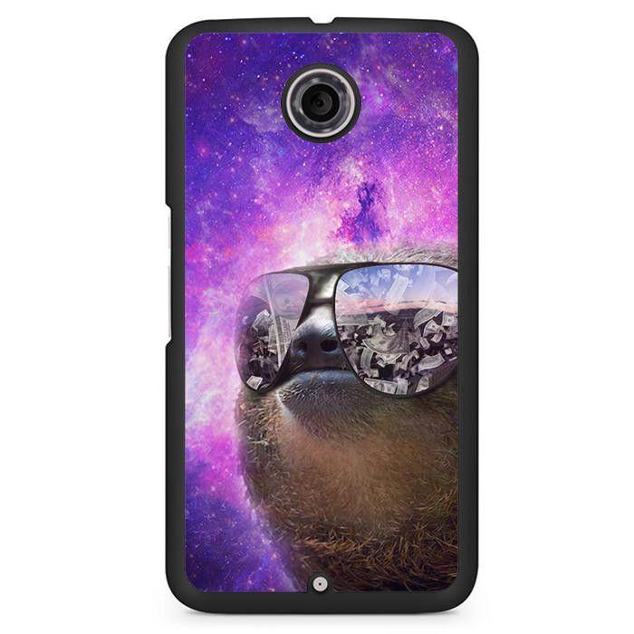 Sloth Space Phonecase Cover Case For Google Nexus 4 Nexus 5 Nexus 6