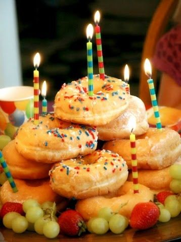 Best Kids Birthday Ideas - iVillage -love for birthday breakfast! Great for those of us who either don't cook or don't have time on a weekday birthday morning to make pancakes...