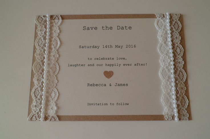 A personal favourite from my Etsy shop https://www.etsy.com/uk/listing/207126741/beautiful-lace-and-pearl-save-the-date