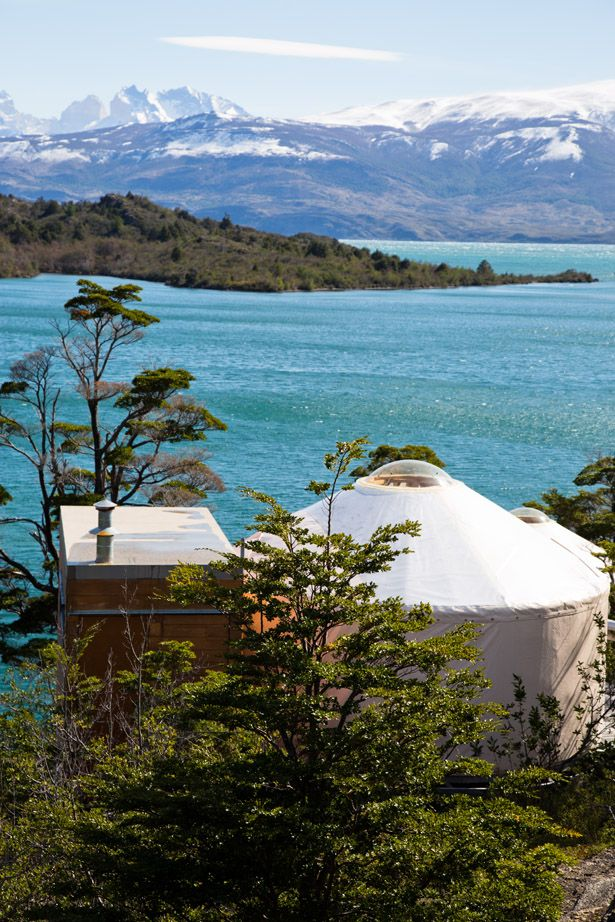 Patagonia Camp, yurts in Torres del Paine National Park, Magallanes Region, Chile.