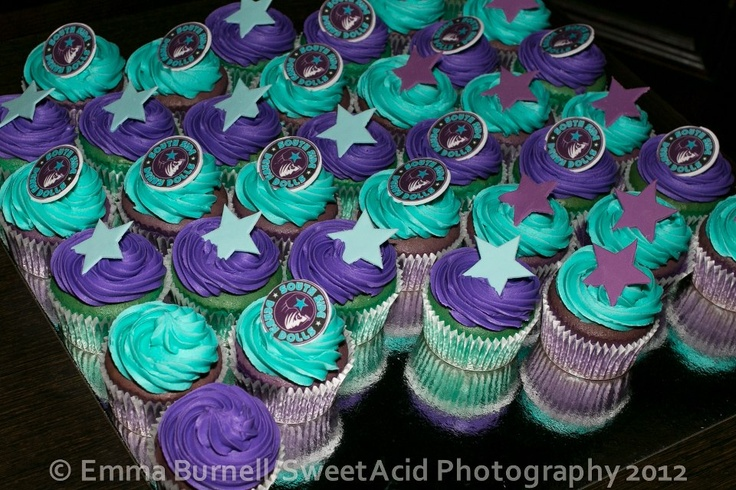 Star Wars / Roller Derby cupcakes! Photo by http://www.facebook.com/sweetacidphotography