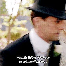 DOWNTON ABBEY ~ Season 6, Episode 8. Lady Mary Crawley and Henry Talbot. [GIF]