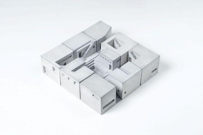 Concrete Miniature Buildings Celebrate Classic Architecture