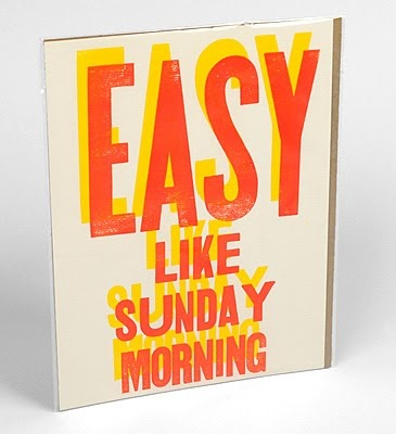 letters for signage: Sunday Morning, I M Easy Easy, Mornings, Easy From Bblinks