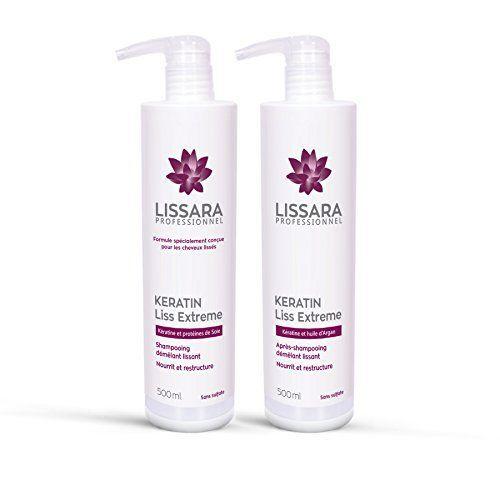 Duo Shampoing et Après-Shampoing Sans Sulfate – à la kératine – Prolongateur Apres Lissage Brésilien – 2 x 500ml: Spécialement conçus pour…