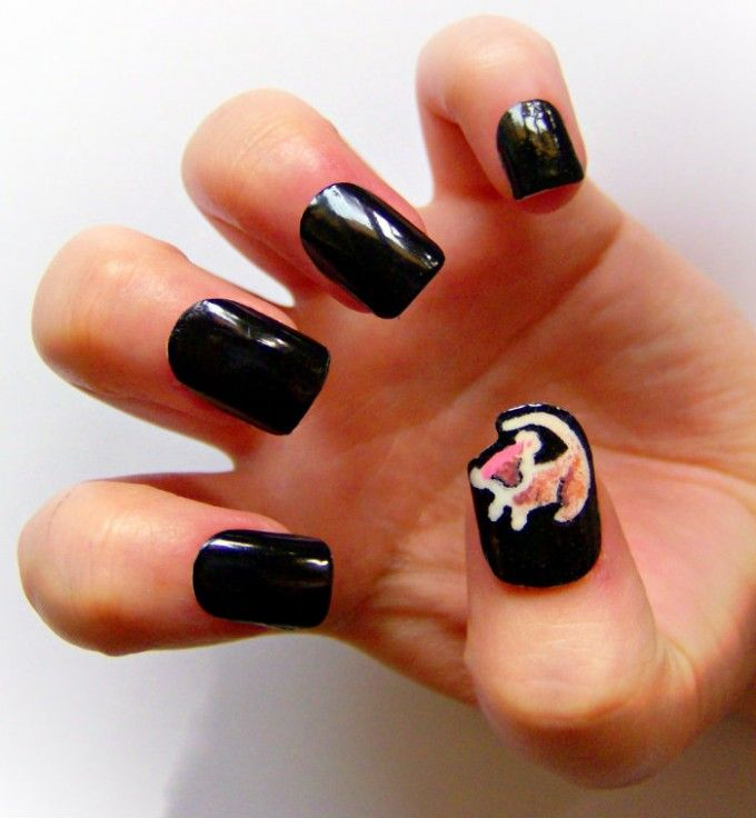 lion king nail art | Best Nail Art Inspired by Movies | EntertainmentMesh