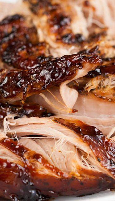 Crockpot Brown Sugar Balsamic Glazed Pork Tenderloin #food Food ideas recipes #summer