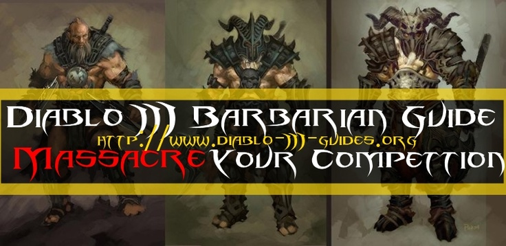 Diablo 3 Barbarian Builds      Hey there. I did a quick Google search and I couldn't find any decent or well written Diablo 3 Barbarian Builds and Guides, so I thought I should bring all of my Experience, from having bought all Diablo 3 guides together and teach you all you need to know about the Diablo 3 Barbarian Builds.    And, as a cool bonus, I am going to reveal which diablo 3 guide is the best diablo 3 guide. Remember, I learned that after actually purchasing all diablo 3 guides and…