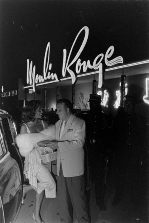 Moulin Rouge, Las Vegas, 1955/ Not far from the original casa I lived in here when we moved to Vegas...