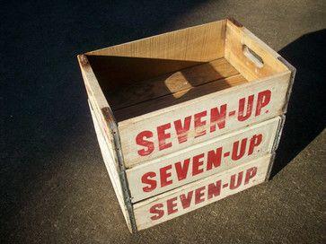 Vintage Wood Beverage Crates eclectic storage boxes