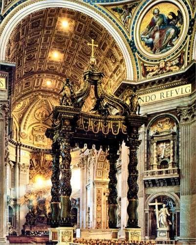 Лоренцо Бернини. 'Балдахин' в соборе святого Петра в Риме. 1624-1633 гг.