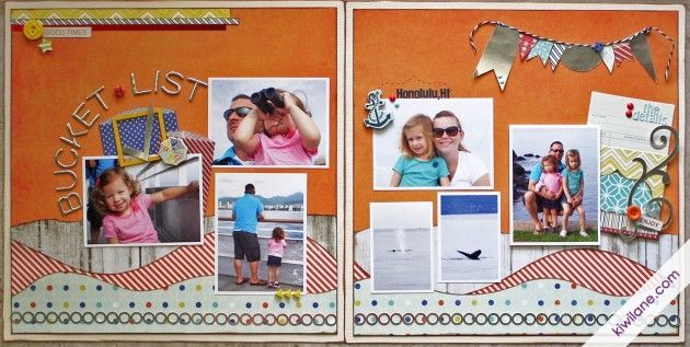 Fancy Pants Designs  Kiwi Lane Designs came together to create this amazing layout designed by DT member Erin Colby.