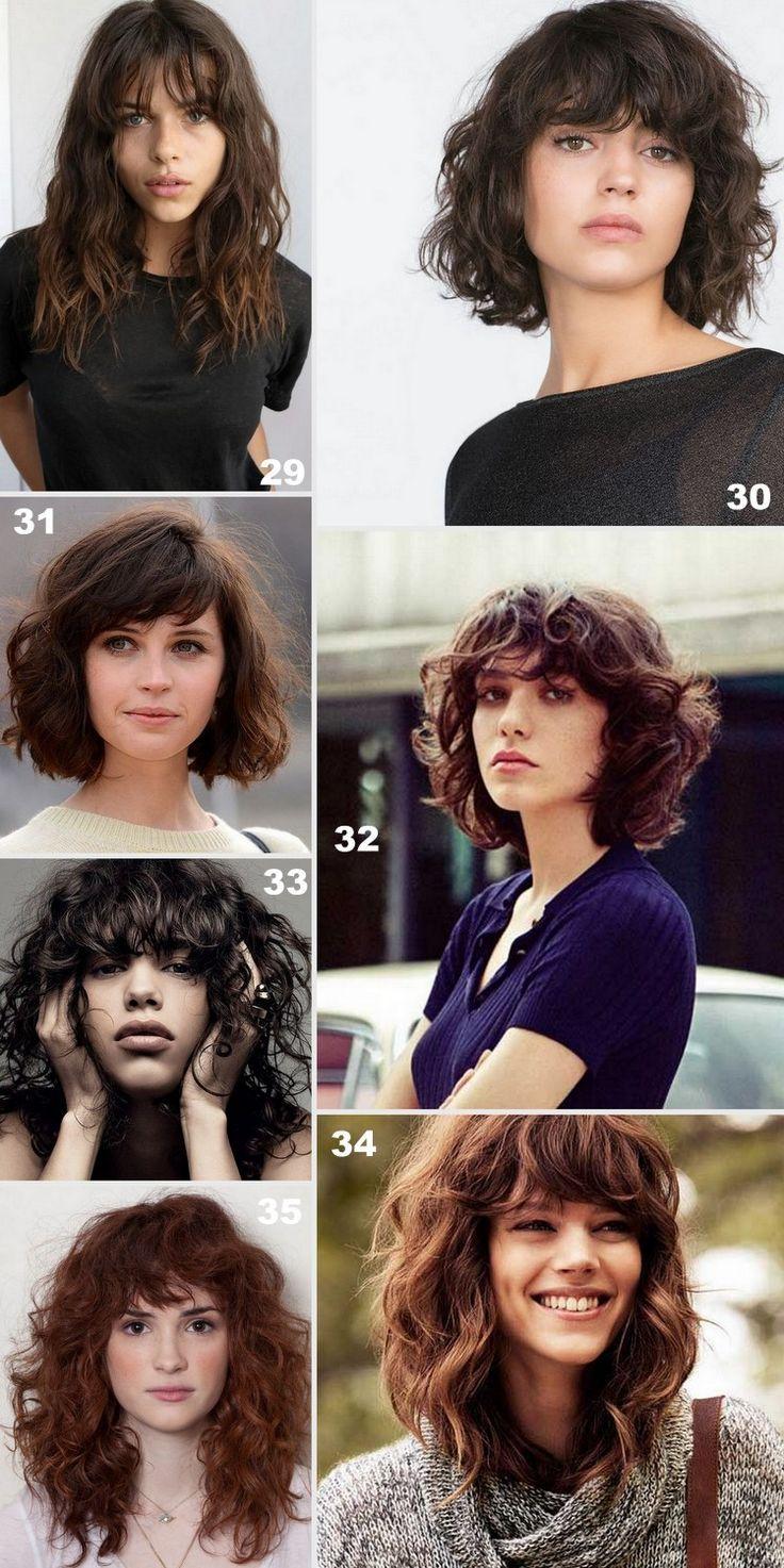 40 HAAR MIT FRANSEN – Lockiges und welliges Haar m…