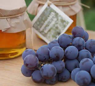 Confituur van druiven en honing