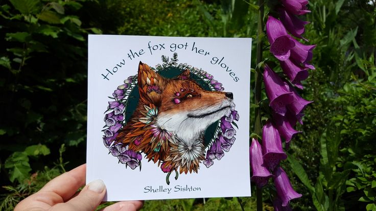 Fifi the fox, star of my first book, with her healing foxgloves growing on my garden farm. All sorts of wildlife visits our garden farm, as well as Fifi and her friends 🐾😊🐾