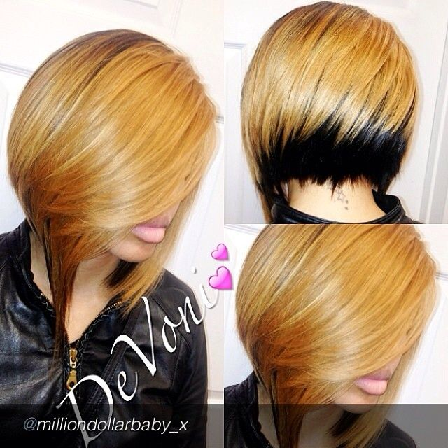 by @milliondollarbaby_x via @InstaReposts. I have never lusted after a haircut Quickweave soooooooo badly. This cut is a bad mofo. Big up to @milliondollarbaby_x ***Not our hair, but light yaki could do this*** #hair #quickweave #blonde #bob #weave #blackgirlsrock #Padgram