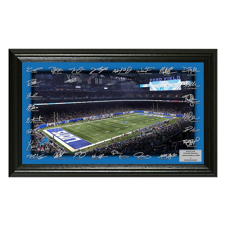 Officially Licensed NFL 2017 Signature Gridiron Print - Lions