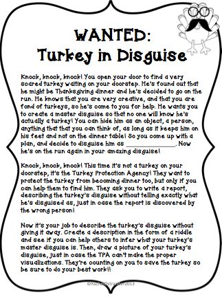 Mrs. O Knows: Wanted: Turkeys in Disguise                                                                                                                                                                                 More