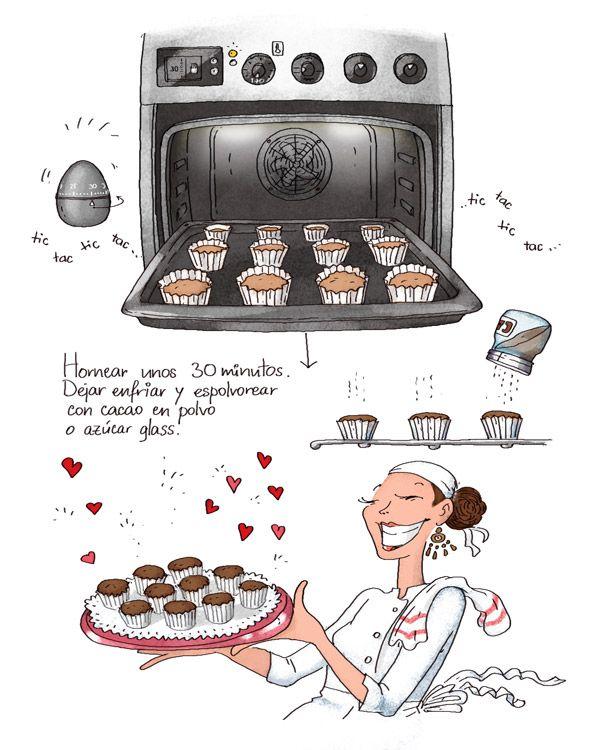 Cartoon Cooking: Marrons Mousse. Mousse de Castañas. O magdalenas?