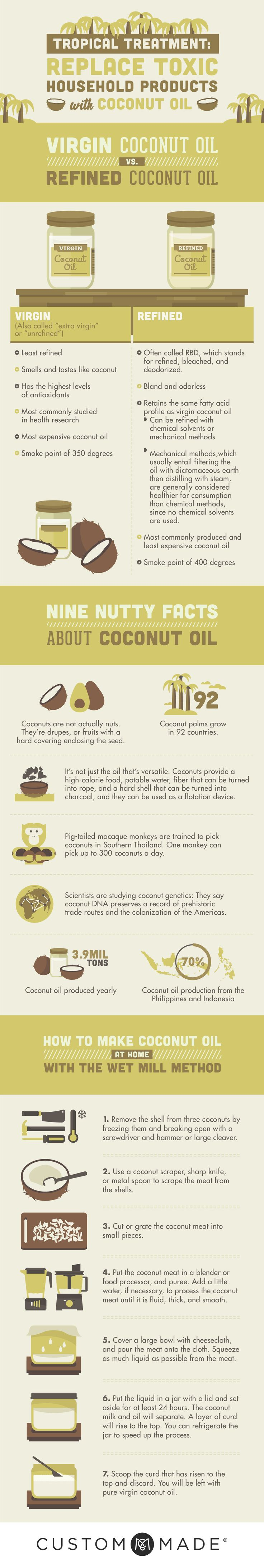 Replace Toxic Household Products with Coconut Oil [Infographic]   ecogreenlove