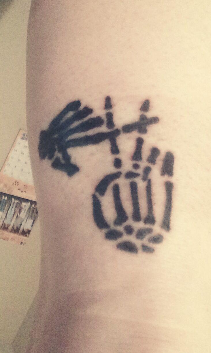 Twenty One Pilots tattoo. Skeleton clique |-/ Tyler Joseph, Josh dun