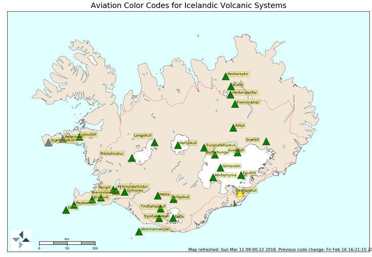 Ostrzeżenia - Wulkany na Islandii
