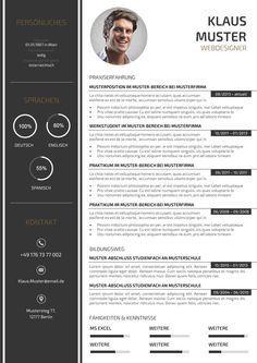 44 Lebenslauf Muster & Vorlagen für die Bewerbung 2015                                                                                                                                                      Mehr