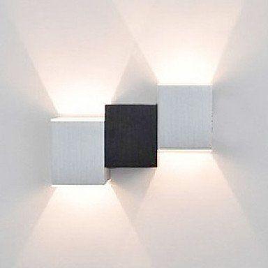 2W moderne Led applique murale avec Black White Body cubique Up Down Ray of Light de éclairage 518, http://www.amazon.fr/dp/B00F0ELDIE/ref=cm_sw_r_pi_dp_beNMsb1HWAQ6M