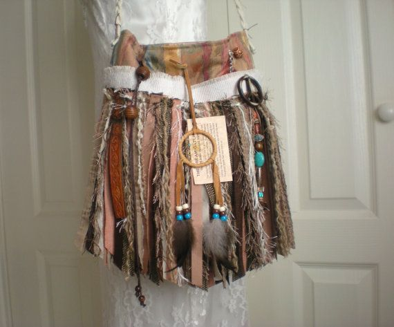 Hippie Gypsy Fringe Purse  CUSTOM ORDER PURSE  by Pursuation, $65.00