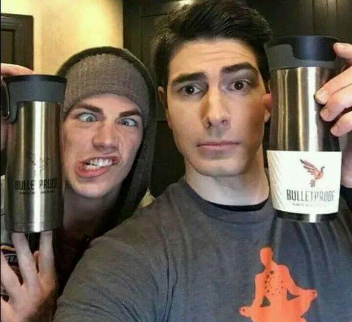 Hanging with #TheFlash cast!!!! - Brandon & Grant #Arrow