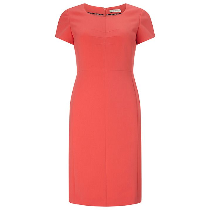Buy Precis Petite by Jeff Banks Shift Dress, Coral, 6 Online at johnlewis.com