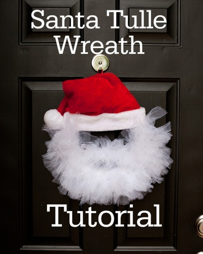 28 best event ideas images on pinterest crafts natal and atelier santa tulle wreath tutorial solutioingenieria Images