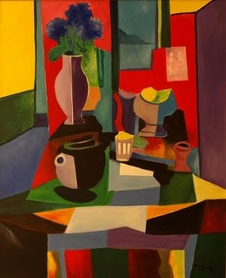 Marcel Mouly, the last living student of Picasso died earlier this year. His work has a Wonderful sense of color!
