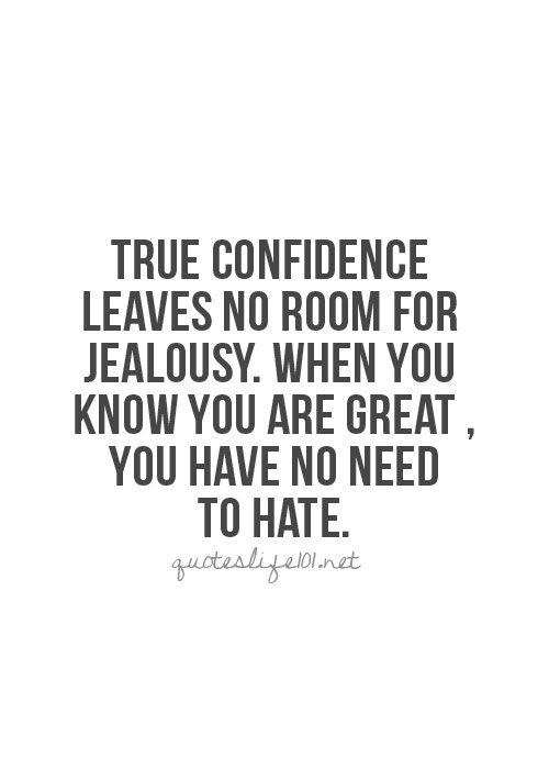 no more jealousy