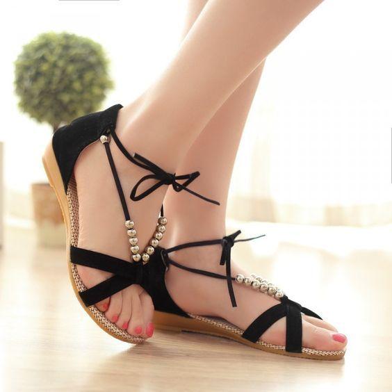 Comfortable Girls   Women Flat Sandals for Summer 2019  252c16a31ace